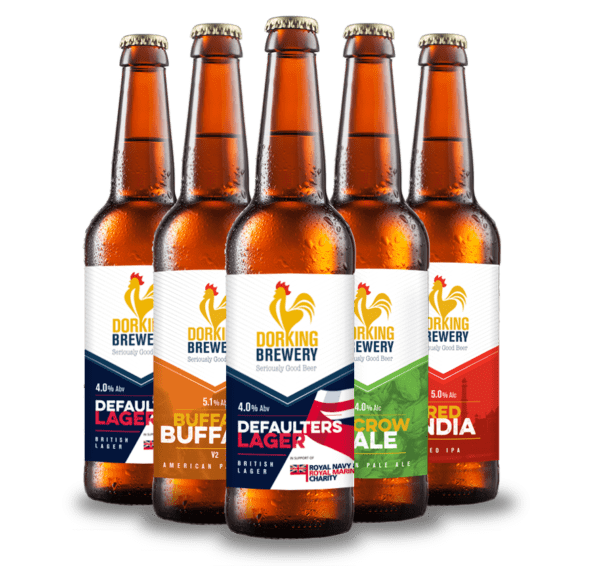 mixed pack quality lagers and ales Surrey