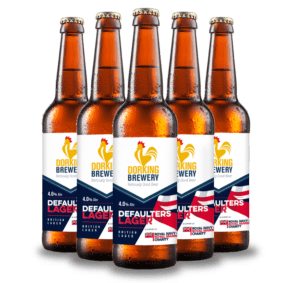 Dorking Brewery Defaulters Lager Surrey
